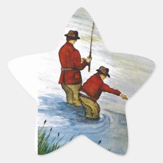 Adesivo Estrela Viagem de pesca do pai e do filho