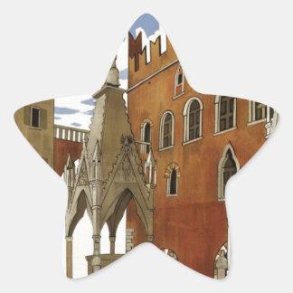 Adesivo Estrela Viagem de Verona do vintage
