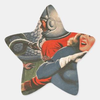 Adesivo Estrela Viajantes do espaço atacados pelo monstro do