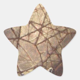 Adesivo Estrela Vidro quebrado e luz solar