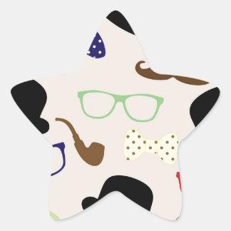 Adesivo Estrela Vidros, chapéus e bigode