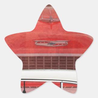 Adesivo Estrela Vintage branco vermelho de Dodge do Bel Air