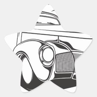 Adesivo Estrela Vintage retro do carro clássico