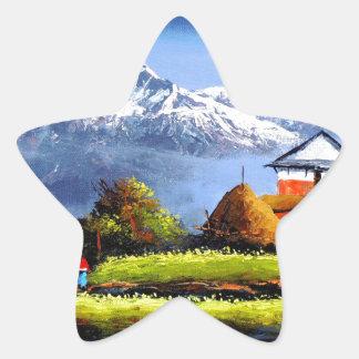 Adesivo Estrela Vista panorâmica da montanha bonita de Everest