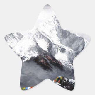 Adesivo Estrela Vista panorâmica da montanha de Everest