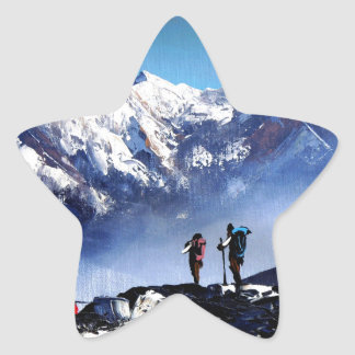 Adesivo Estrela Vista panorâmica da montanha máxima de Ama Dablam