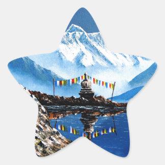 Adesivo Estrela Vista panorâmica da montanha Nepal de Annapurna