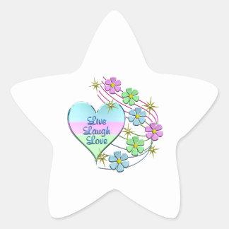 Adesivo Estrela Vive o amor do riso