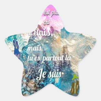 Adesivo Estrela Você é em toda parte mim está