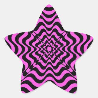 Adesivo Estrela Vortex cor-de-rosa