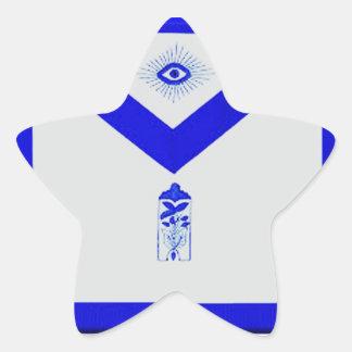 Adesivo Estrela Warden júnior maçónico Avental