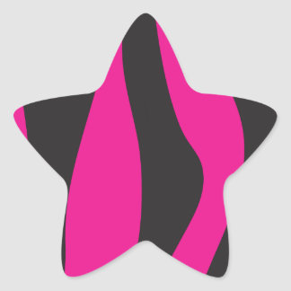 Adesivo Estrela Zebra cor-de-rosa