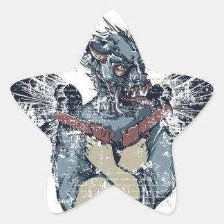 Adesivo Estrela zombi do vôo com asas