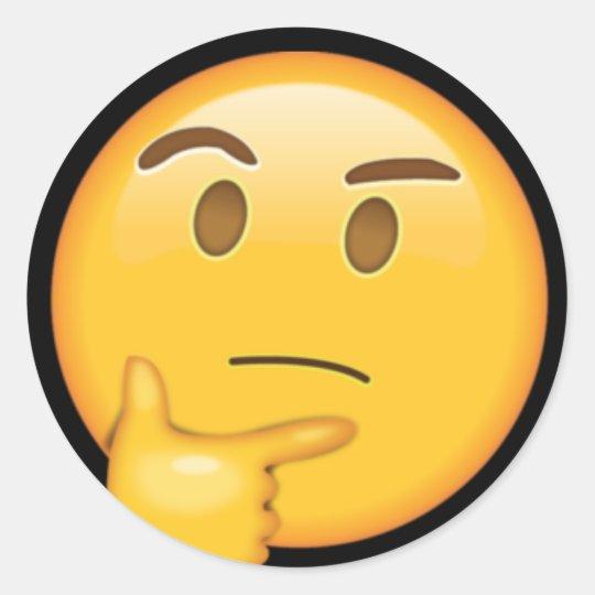 Adesivo Just Thinking | Emoji