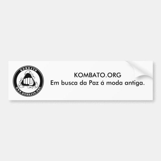 Adesivo Kombato.org