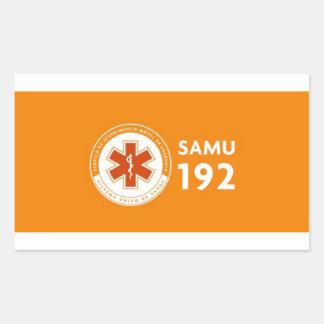 Adesivo Logomarca SAMU 192 - fundo laranja