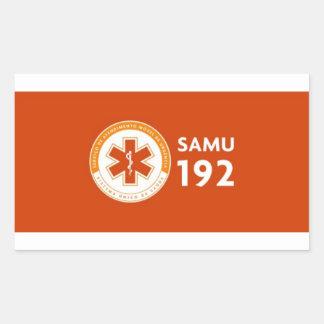 Adesivo Logomarca SAMU 192 - fundo vermelho