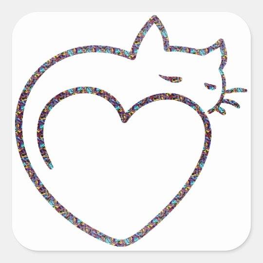 "Adesivo ""Love cats"""