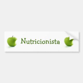 Adesivo Maçã Verde Nutricionista