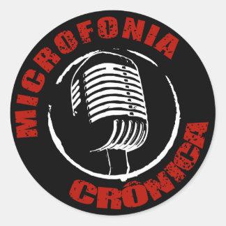 Adesivo Microfonia Crônica Preto
