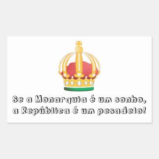 Adesivo Monarquia é um Sonho