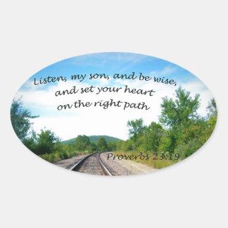 Adesivo Oval 23:19 dos provérbio