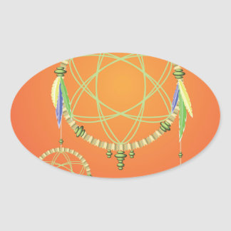 Adesivo Oval 74Dream Catcher_rasterized