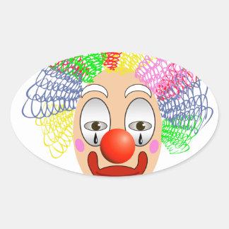 Adesivo Oval 97Clown Head_rasterized