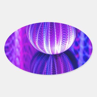 Adesivo Oval a bola de cristal reflete