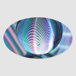 Adesivo Oval A bola reflete 5