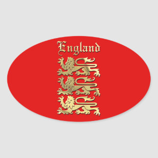 Adesivo Oval A brasão de Inglaterra