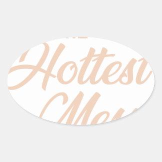 Adesivo Oval A confusão a mais quente