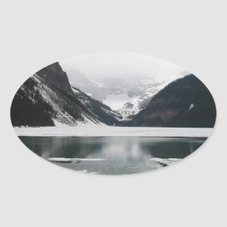 Adesivo Oval A extremidade do inverno, Lake Louise
