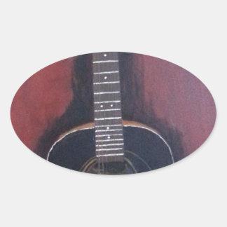 Adesivo Oval A guitarra de Ryan