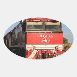 Adesivo Oval A locomotiva do trem de Ghan, Darwin