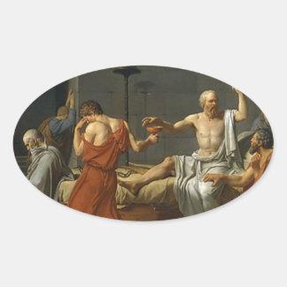 Adesivo Oval A morte de Socrates