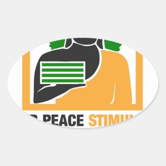 Adesivo Oval A paz interna estimula o sucesso financeiro
