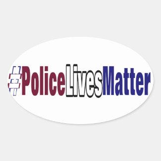 Adesivo Oval # a polícia vive matéria