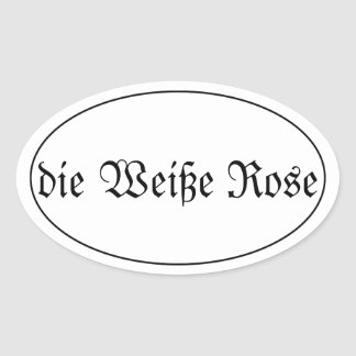 Adesivo Oval a rosa o branco