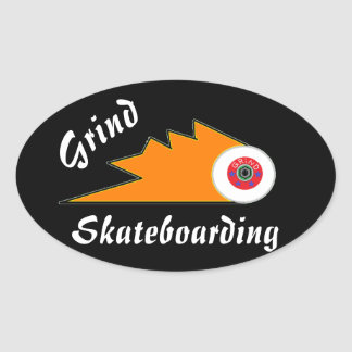 Adesivo Oval a roupa do skate da moagem ostenta o logotipo