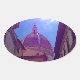 Adesivo Oval Abóbada de Brunelleschi em Florença, Italia