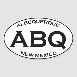 Adesivo Oval ABQ - Albuquerque New mexico