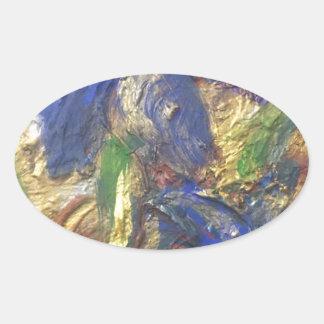 Adesivo Oval Abstrato da íris
