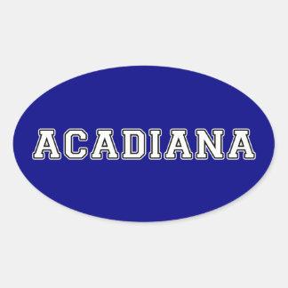 Adesivo Oval Acadiana