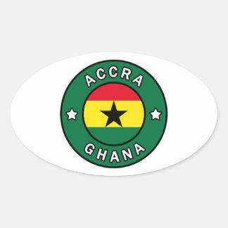 Adesivo Oval Accra Ghana