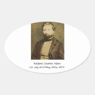 Adesivo Oval Adolfo Charles Adam, 1855