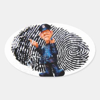 Adesivo Oval Agente da polícia
