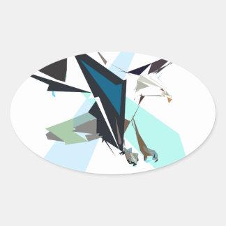 Adesivo Oval águia