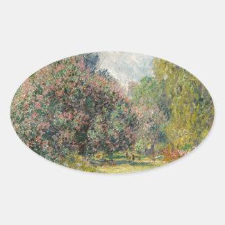 Adesivo Oval Ajardine o Parc Monceau - Claude Monet