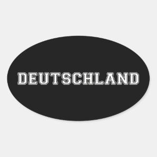 Adesivo Oval Alemanha